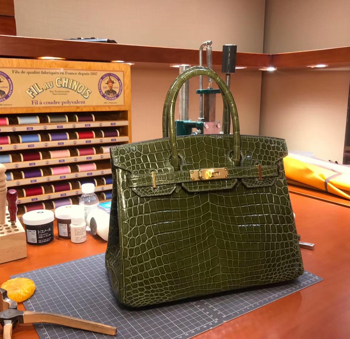 6HVeronese橄榄绿  爱马仕 HERMES 铂金包 Birkin 配全套专柜原版包装 全球发售