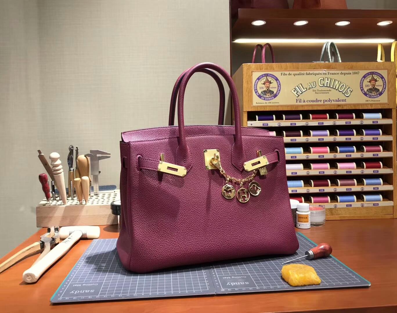 Ruby 宝石红 B5  爱马仕 HERMES 铂金包 Birkin 30cm 配全套专柜原版包装 全球发售