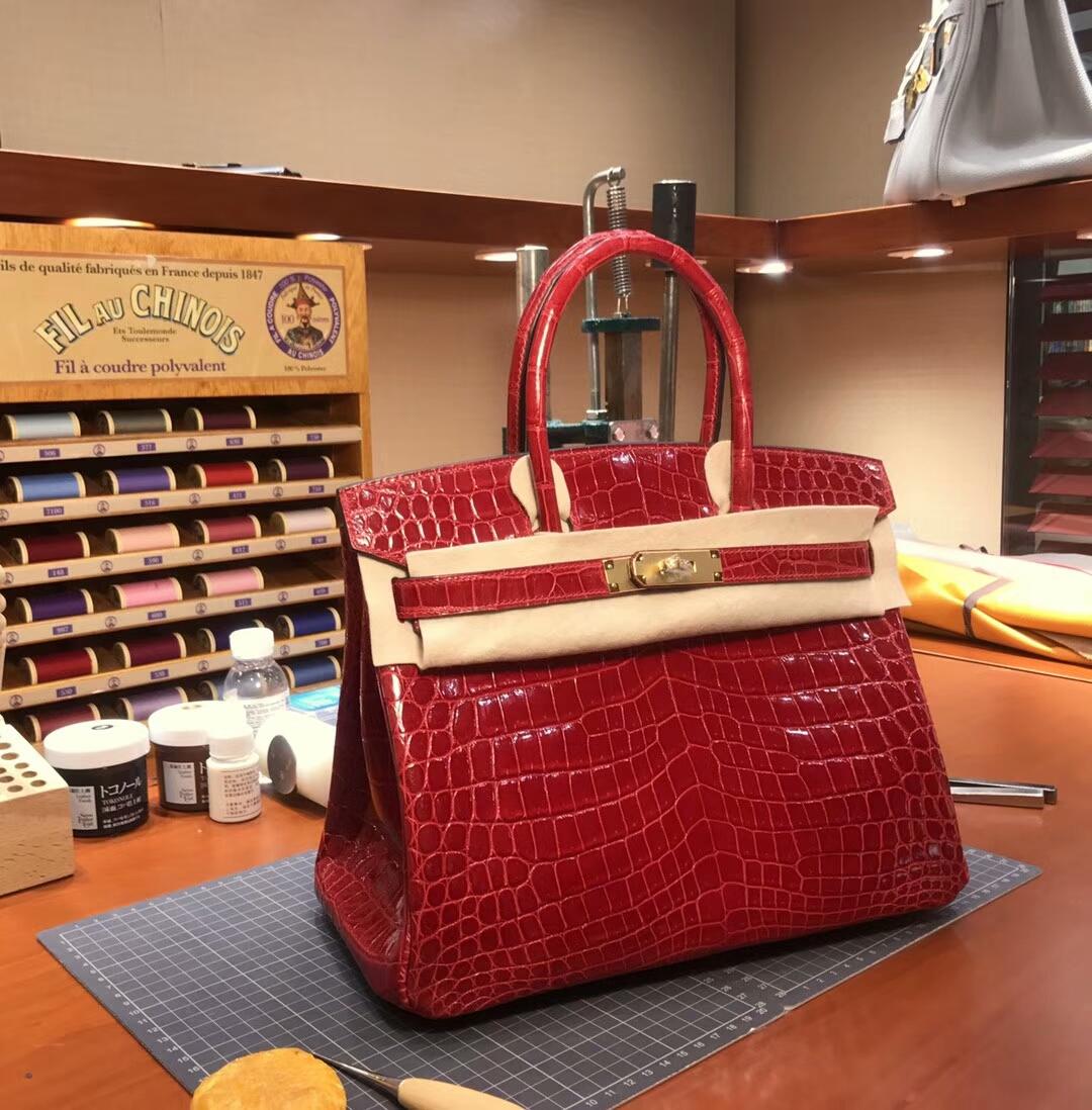 B5Ruby宝石红 爱马仕 HERMES 铂金包 Birkin 配全套专柜原版包装 全球发售