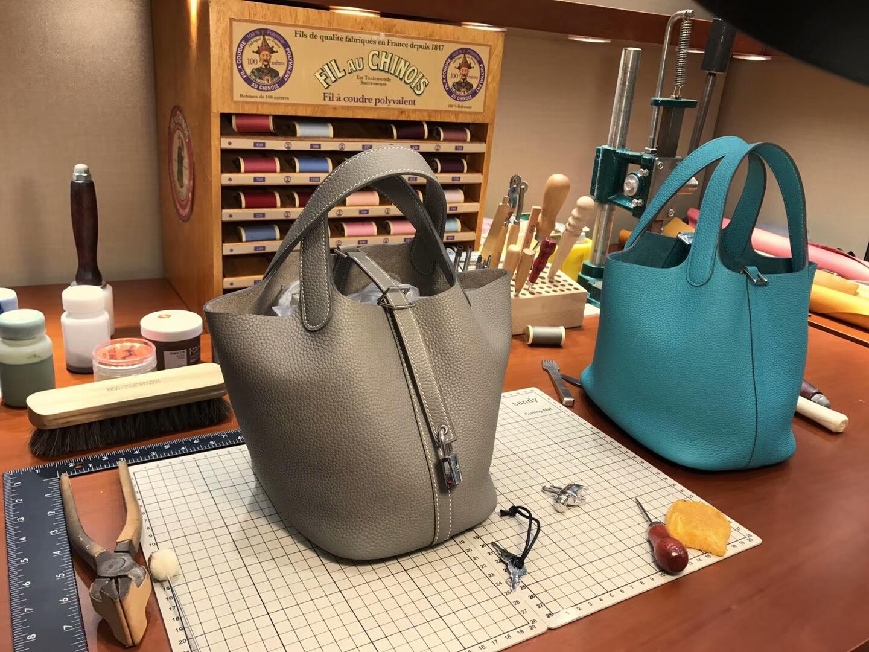 爱马仕 HERMES 菜篮子 Picotin 配全套专柜原版包装 全球发售 4z海鸥灰grismouette