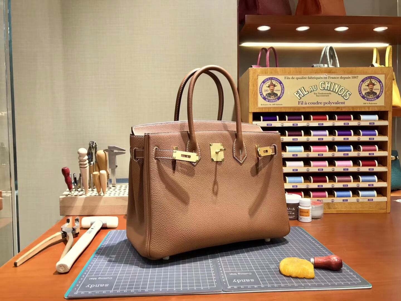 爱马仕 HERMES 铂金包 Birkin 30cm 配全套专柜原版包装 全球发售 ck37金棕色gold