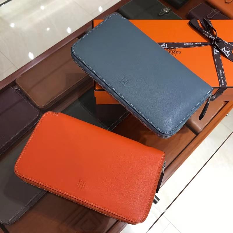 HERMES 长款拉链钱包 CC93 Orange 橙色 橘色/n7风暴蓝bluetempete 灰蓝色 配全套专柜原版包装