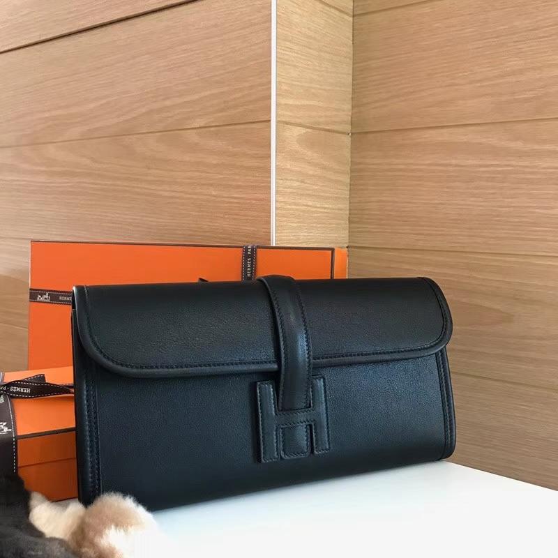 HERMES 爱马仕 手包 配全套专柜原版包装 全球发售 BLACK 黑色