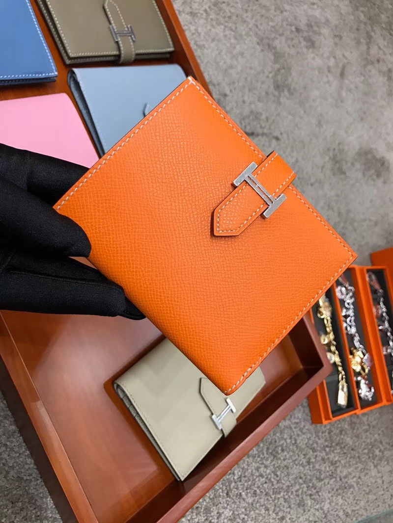 Bearn 短款H扣钱包 Swift 现货系列 CK93 经典橙色 Orange
