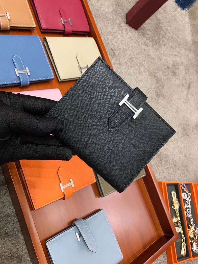 Bearn 短款H扣钱包 Swift 现货系列 BLACK 黑色 配全套专柜原版包装