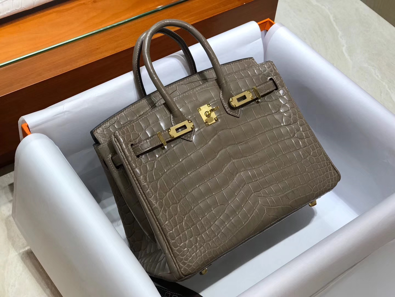 爱马仕 HERMES 铂金包 Birkin 配全套专柜原版包装 全球发售 大象灰 8C