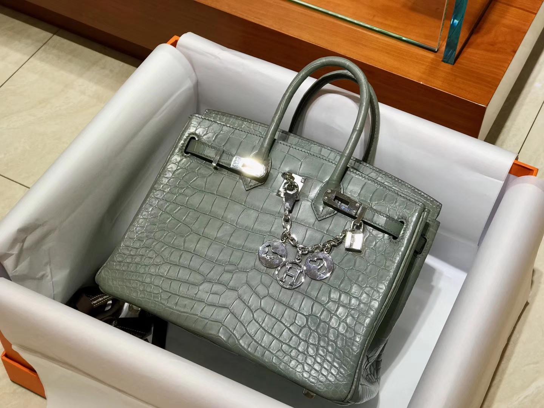 爱马仕 HERMES 铂金包 Birkin 配全套专柜原版包装 全球发售 8F 锡器灰 Etain