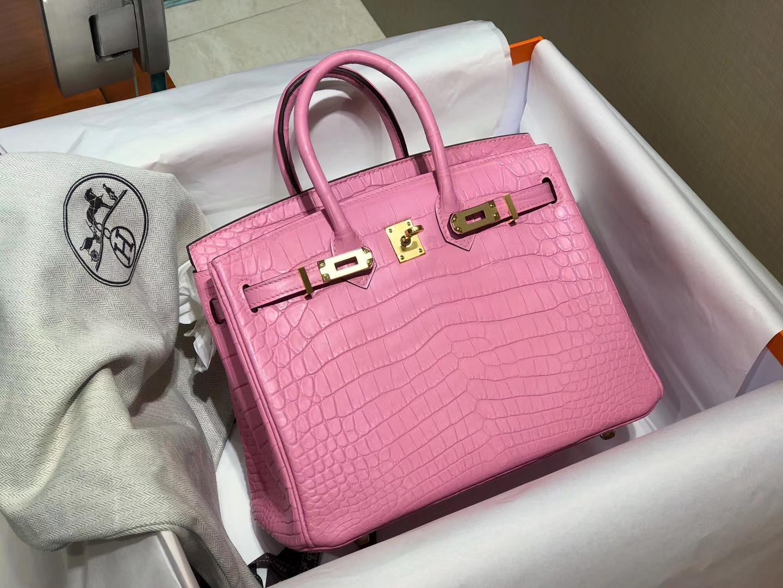 爱马仕 HERMES 铂金包 Birkin 配全套专柜原版包装 全球发售 rosesakura水粉色3q
