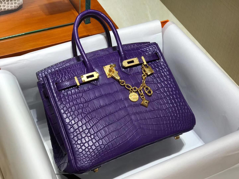 爱马仕 HERMES 铂金包 Birkin 配全套专柜原版包装 全球发售 5L 梦幻紫 极度紫 Ultra Violet