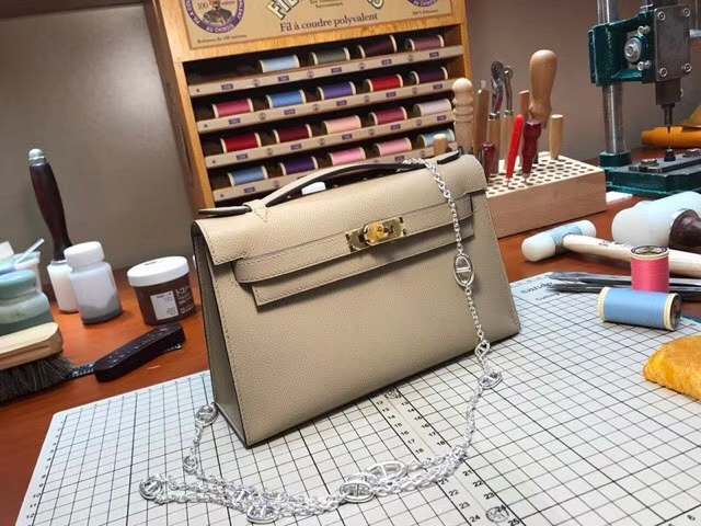 HERMES 爱马仕 迷你凯莉 MiniKelly S2风衣灰 Trench 配全套专柜原版包装