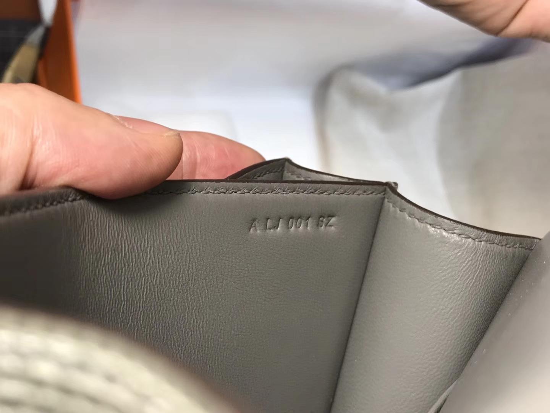 Hermes 爱马仕 空姐包 Constance 蜥蜴皮 8F 锡器灰 Etain  定制15-20天发货 配全套专柜原版包装