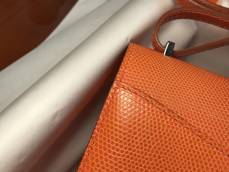 Hermes 爱马仕 空姐包 Constance 蜥蜴皮 CK93 经典橙色 Orange  定制15-20天发货 配全套专柜原版包装