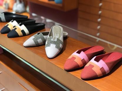 秋冬新款麂皮 Chamois Leather 拼色款 女士平底鞋 黑色