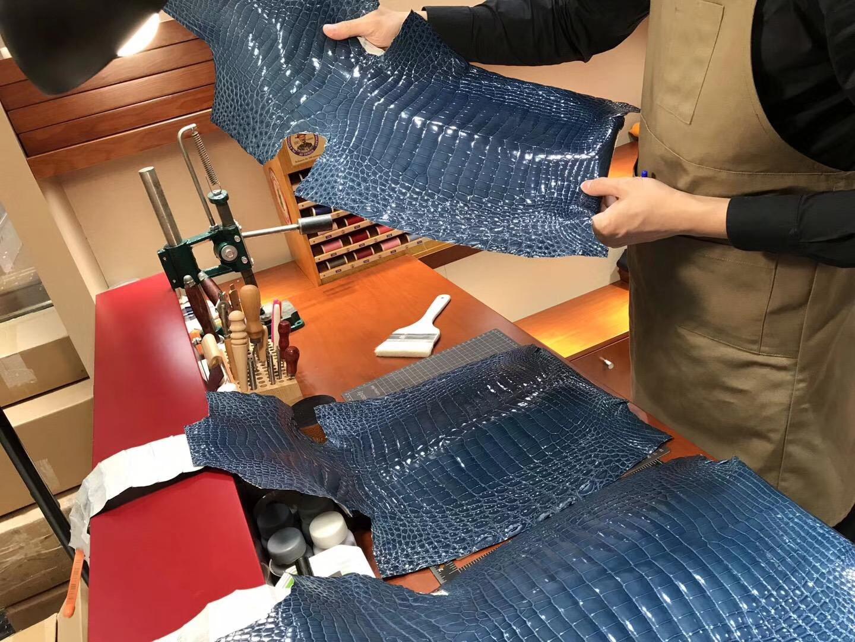 HERMES 密西西比 鳄鱼皮 选皮 经典色系 金银扣款可定制 高端货 厂家直销