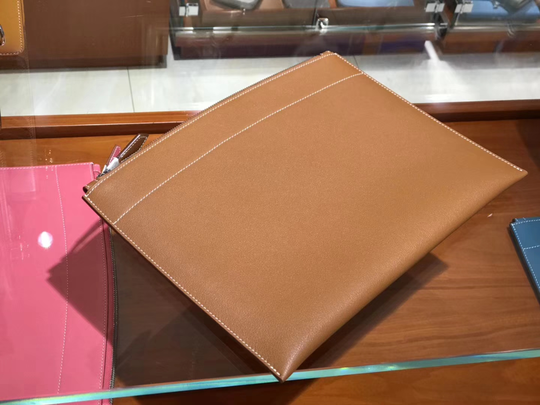 手工定制 男士手包 CK37金棕色Gold 配全套专柜原版包装