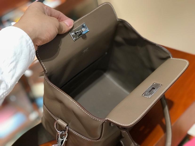 HERMES 爱马仕 专柜新款 Toolbox Swift 牛奶盒 20cm 大象灰