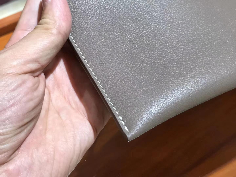 手工定制 男士手包 大象灰 Etoupe CK18 配全套专柜原版包装