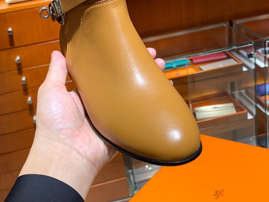 爱马仕neo靴kelly短靴 意大利树羔皮底纯手工缝制工艺 羊皮 35~41 正常码数