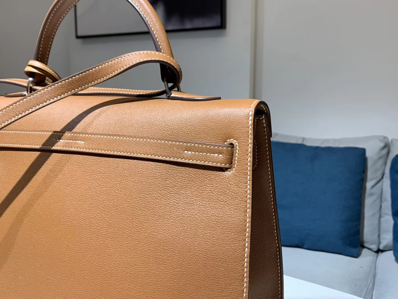 HERMES 爱马仕 Kellyfalt 金棕色 CK37 配全套专柜原版包装 现货系列
