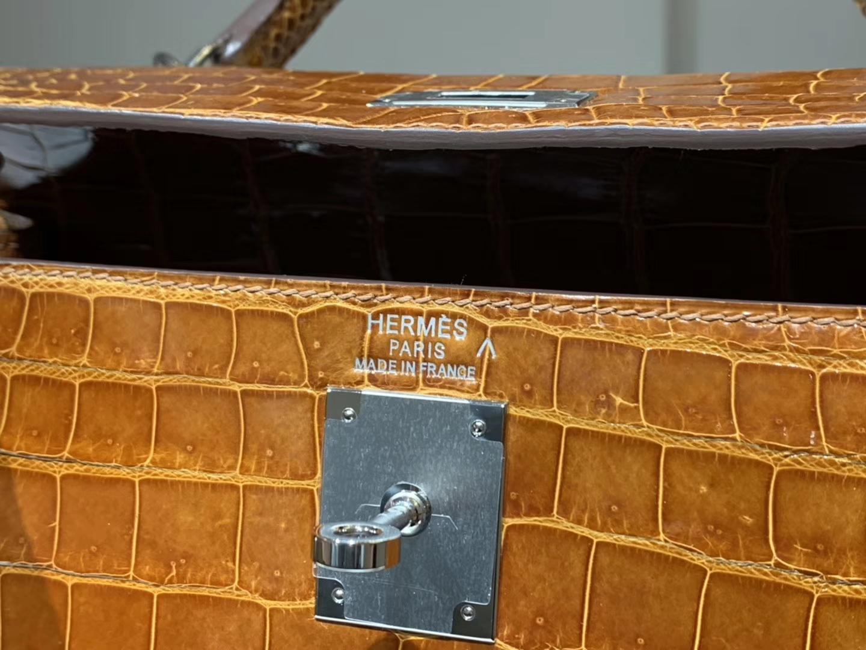 HERMES 凯莉包 Kelly25CM 4g焦糖色brulee 配全套专柜原版包装