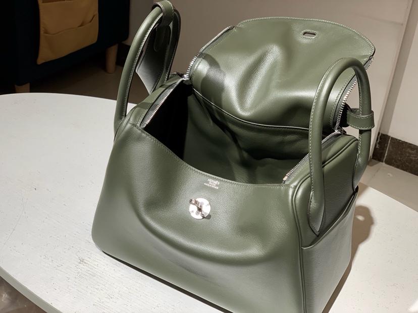 Lindy 26/30cm 纯手工 6h橄榄绿vert veronese 配全套专柜原版包装