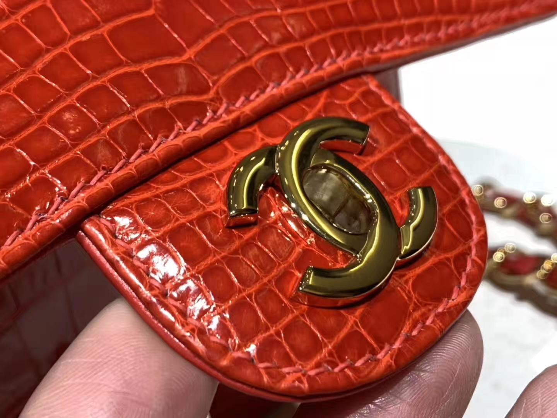 美洲鳄 法拉利红 DIOR迪奥戴妃包 金银扣 接受定制 代购版本