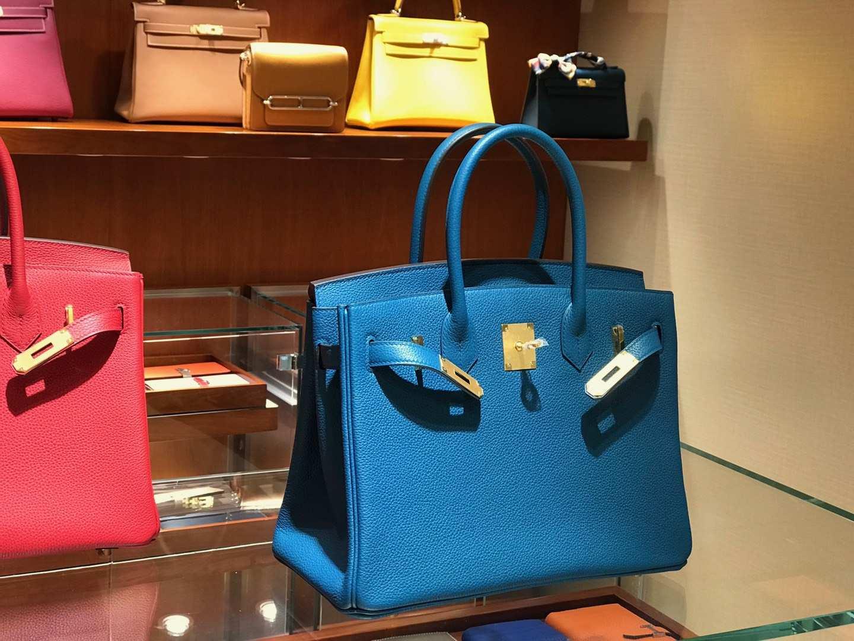 爱马仕 HERMES 铂金包 Birkin 25cm 30cm 希腊蓝 配全套专柜原版包装 全球发售