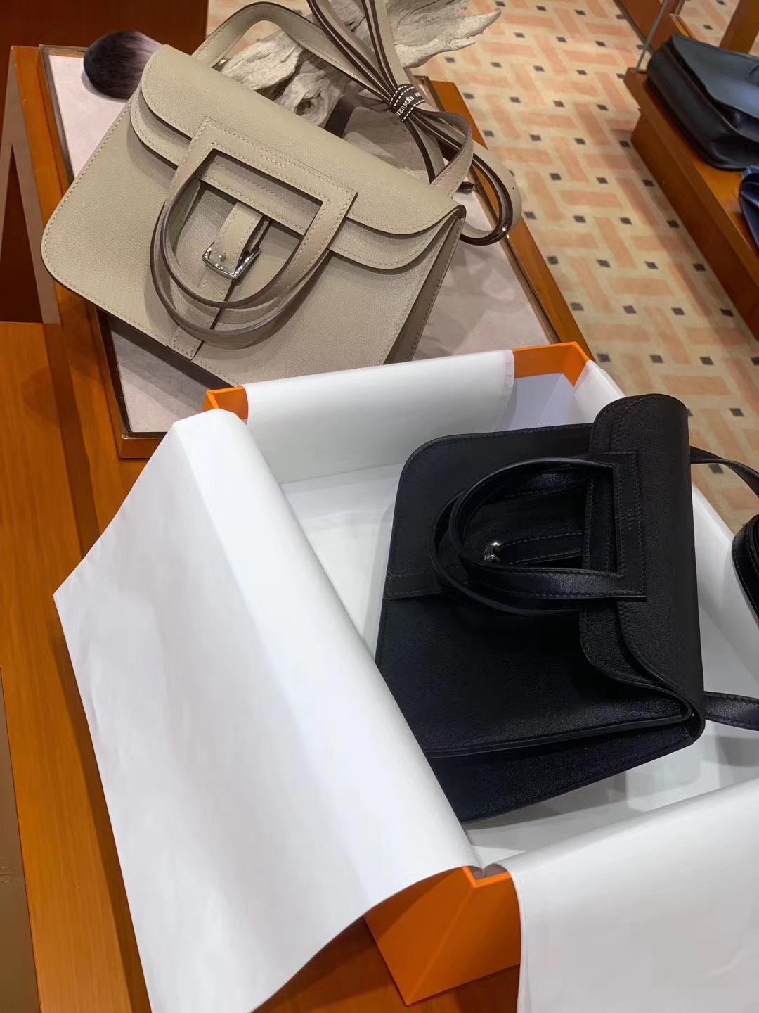 HERMES 爱马仕 Halzan swift 黑色 配全套专柜原版包装