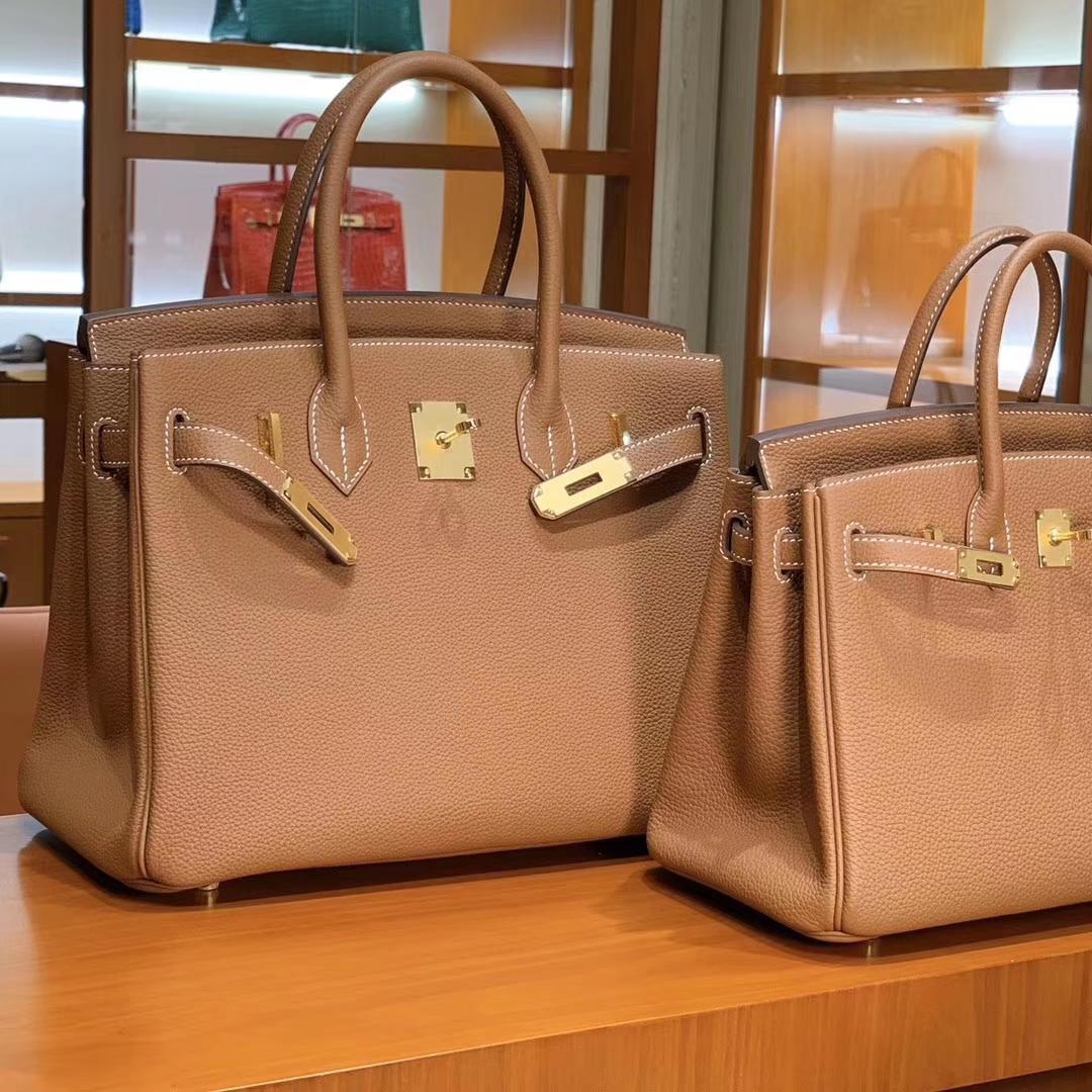 爱马仕 HERMES 铂金包 Birkin 25cm 30cm 金棕色 配全套专柜原版包装 全球发售